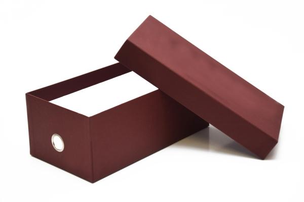 Scatola per Calzature con occhiello centrale oro, 35x20x12