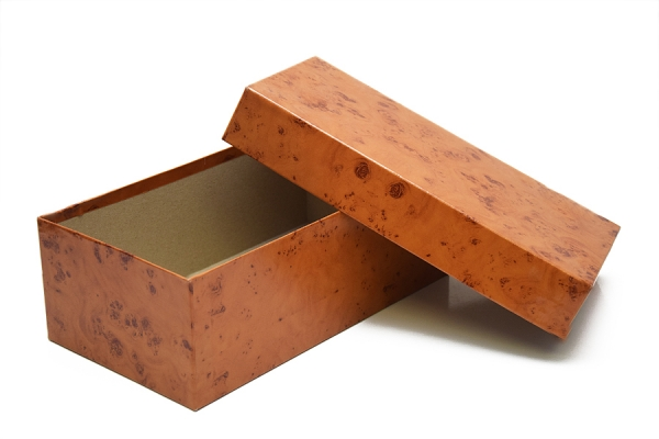 Scatola per Calzature in cuoio anticato, 31x17x11