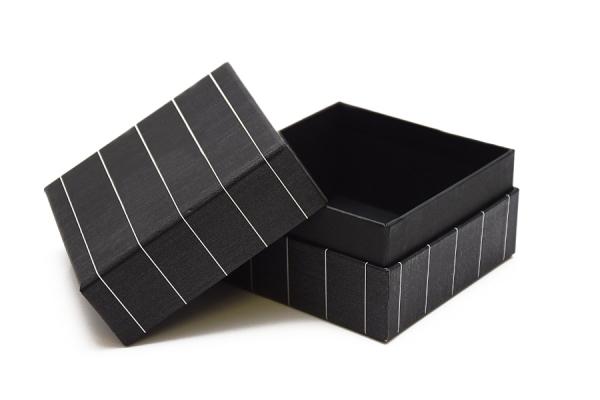 Scatola per oggettistica composta da tre pezzi con fondo interno, 13x13x6